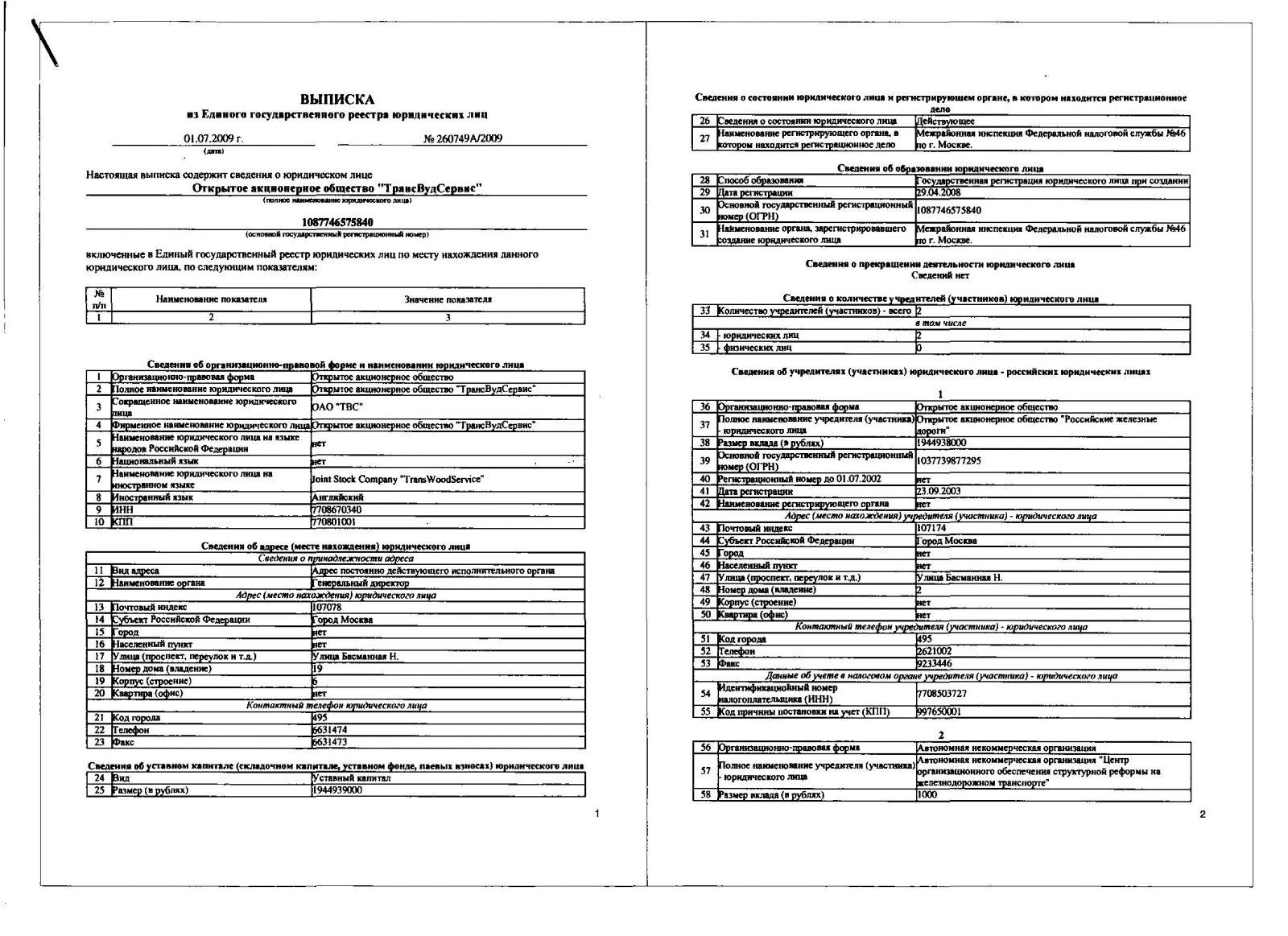 Где регистрировались юридические лица до 2002г.